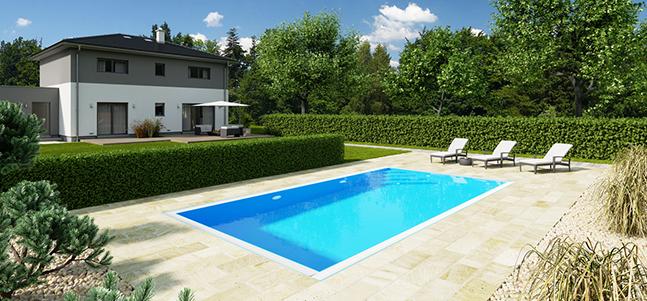 přelivové bazény